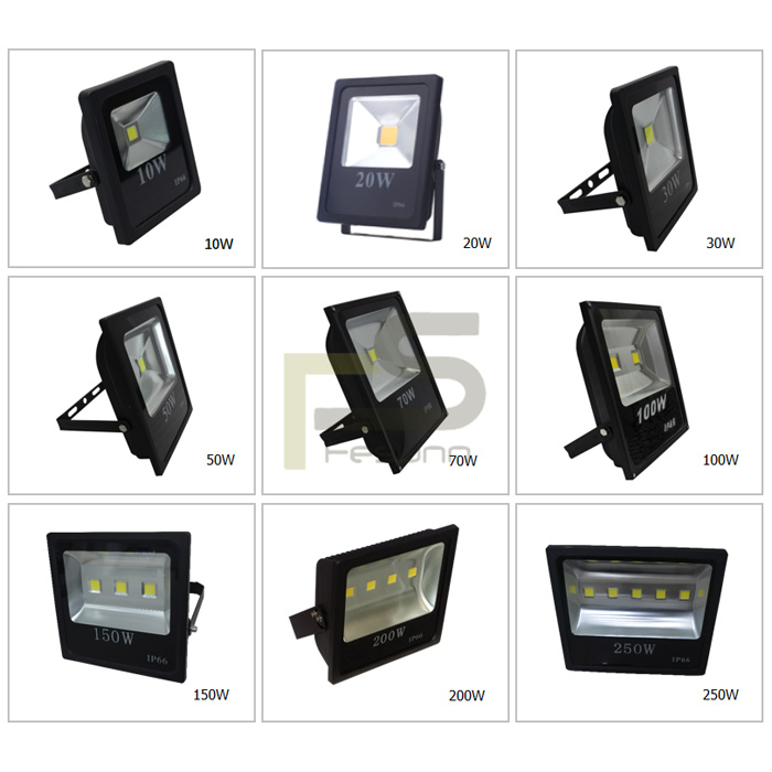 Grey body high brightness LED Flood light 250W, 50w 100w 150w 200w led reflector